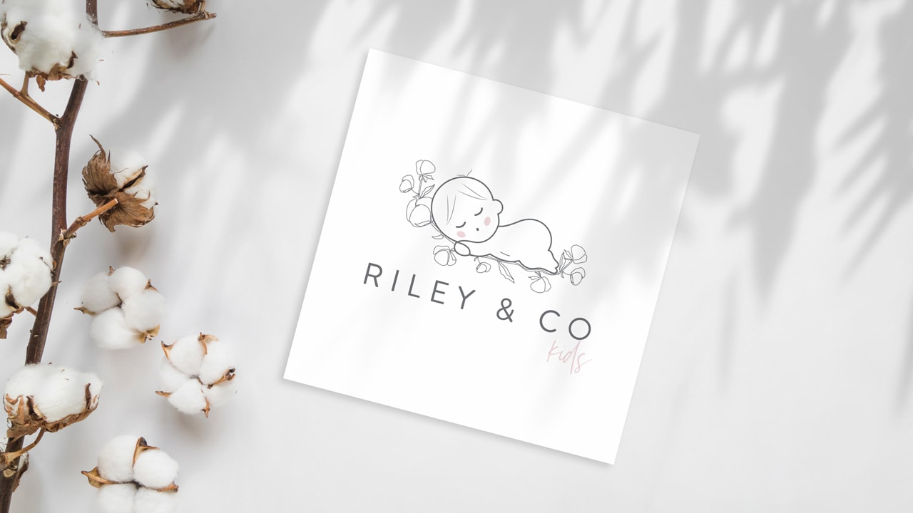riley and kids co baby boutique logo design