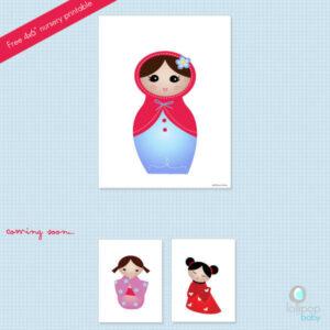 Free Nursery Printable - Babushka