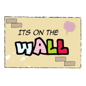 Graphic Design Portfolio: Its On The Wall logo & web header
