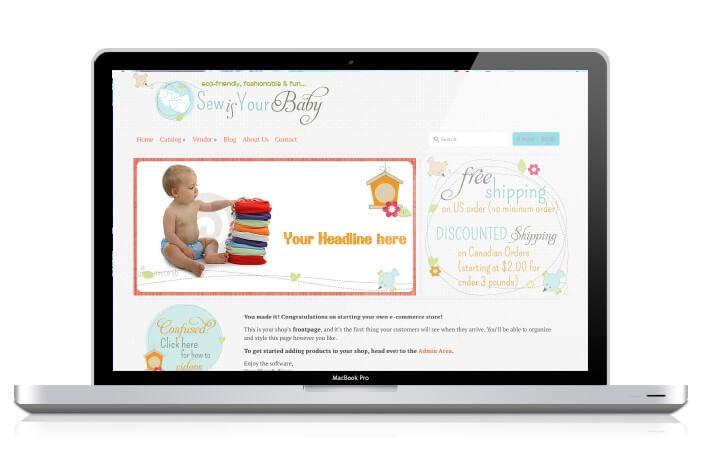 Website Portfolio: Sew is Your Baby